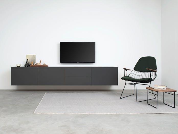Pastoe Fm06 Wire Lounge Chair Dark Green Cees Braakman