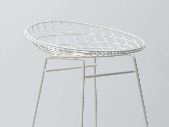 Pastoe Km Wire Stool Seat Detail White Cees Braakman