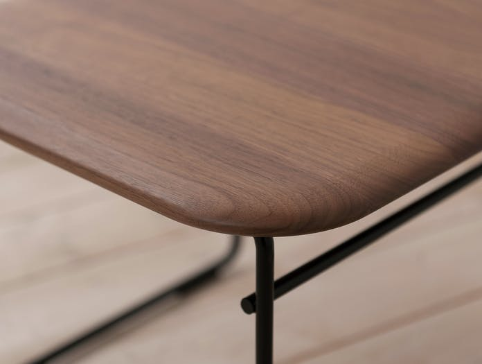 Pastoe Wire Side Table Walnut Detail Cees Braakman