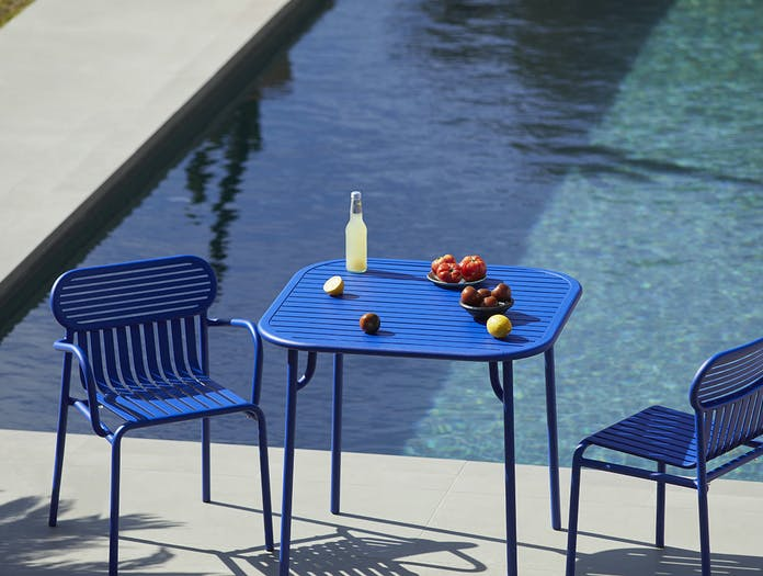 Petite friture weekend chairs table blue