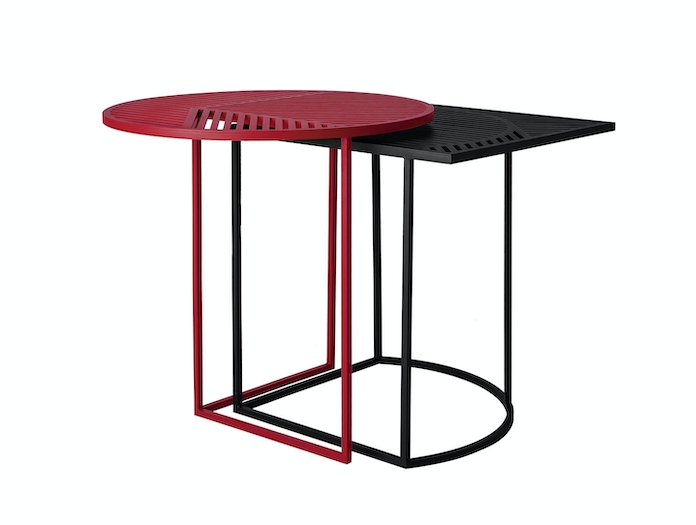 Petite Friture Iso Side Tables Black Red Pool