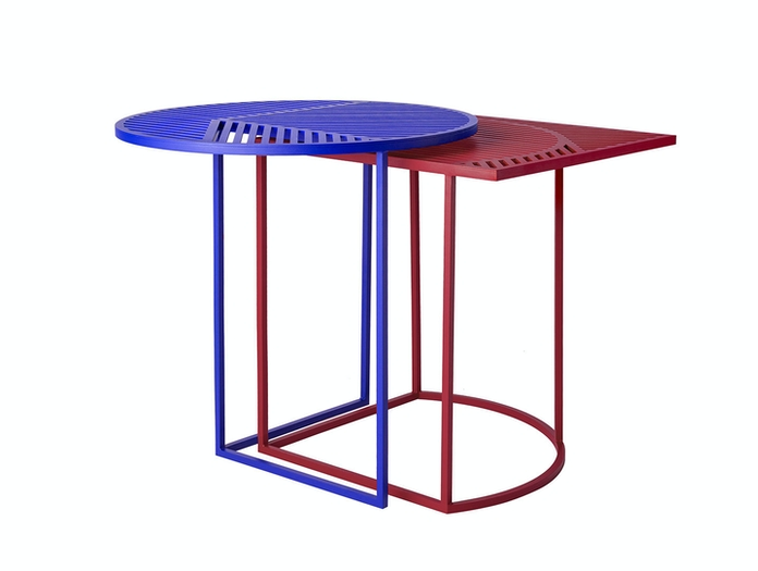 Petite Friture Iso Side Tables Blue Red Pool