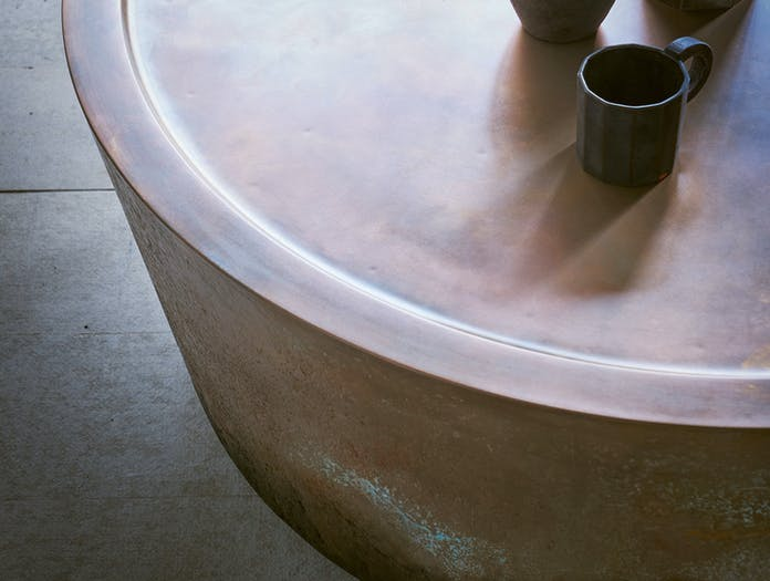 Pinch Nim Coffee Table Copper Detail Russell Pinch Oona Bannon