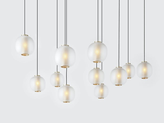 Resident Bloom Pendant Light Cluster White Tim Rundle