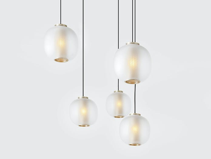 Resident Bloom Pendant Lights White Tim Rundle