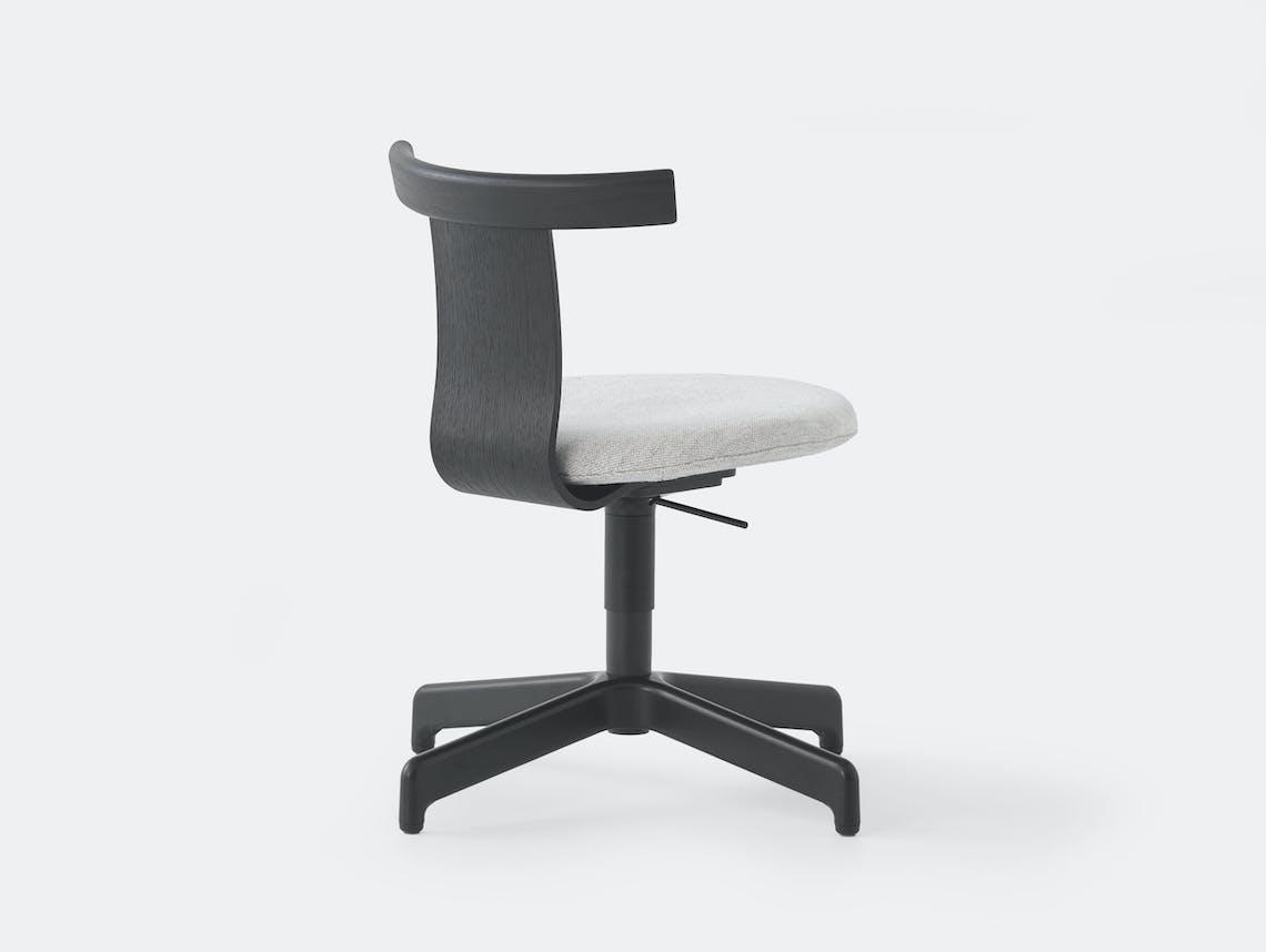 Resident Jiro Office Chair Black Oak Ped 2
