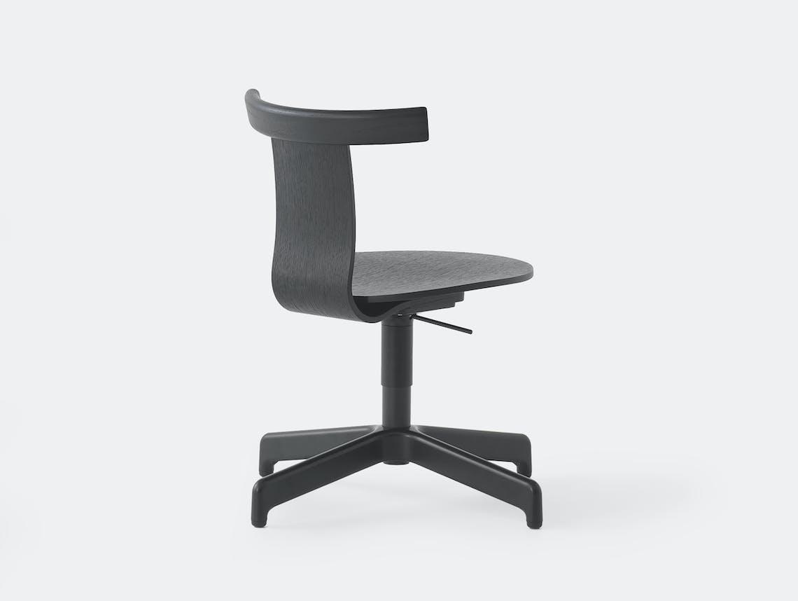 Resident Jiro Office Chair Black Oak Ped 3