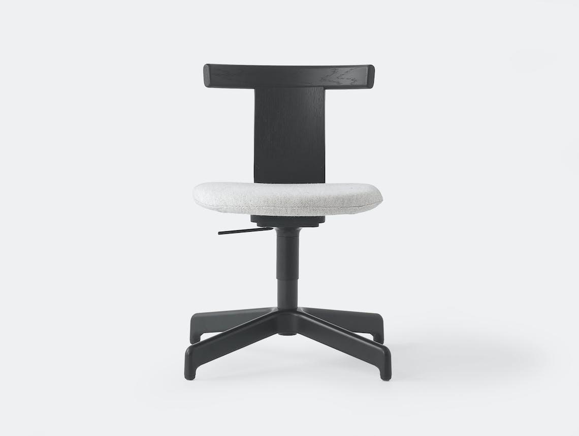 Resident Jiro Office Chair Black Oak Ped