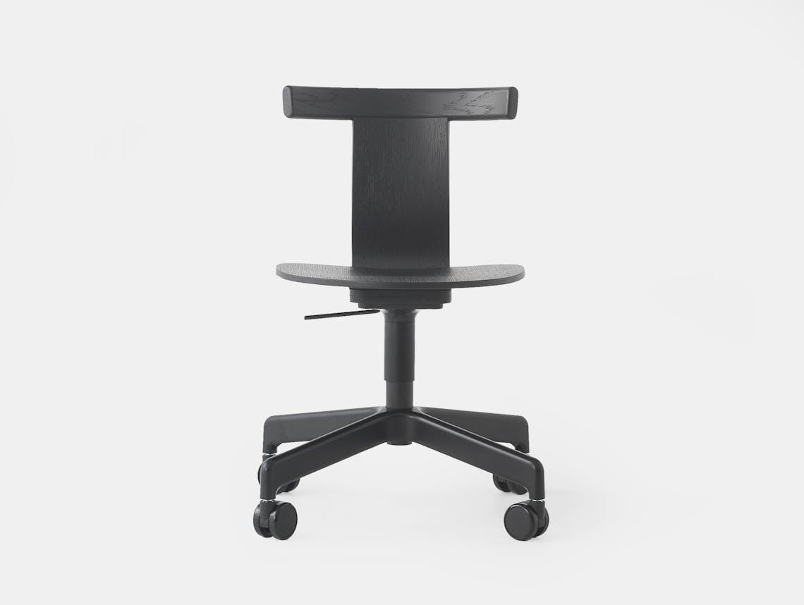 Resident Jiro Office Chair Black Oak