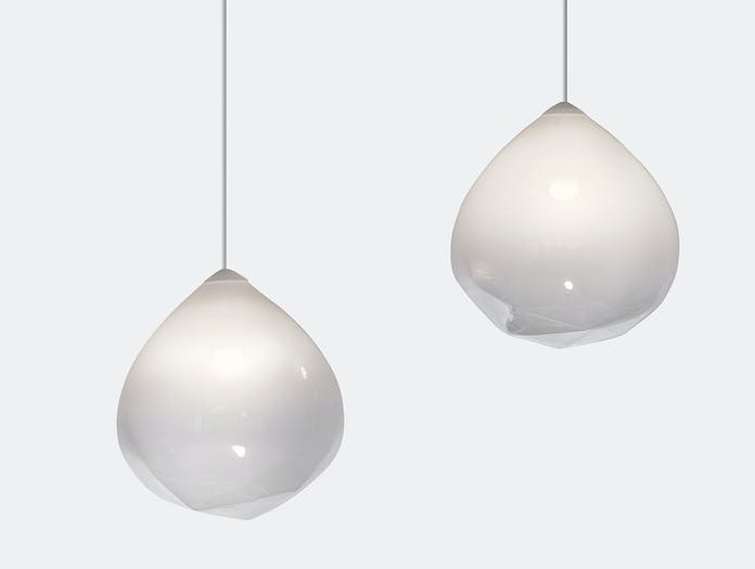 Resident Parison Pendant Light Pair White Cheshire Architects
