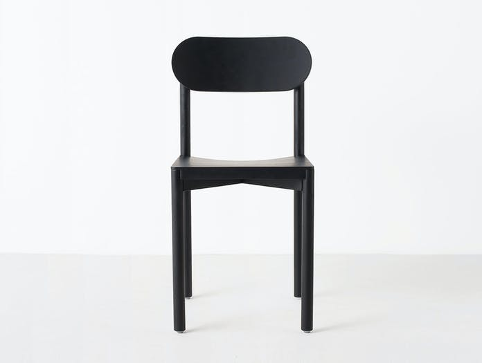 Resident Studio Chair Black Oak Front Jason Whiteley