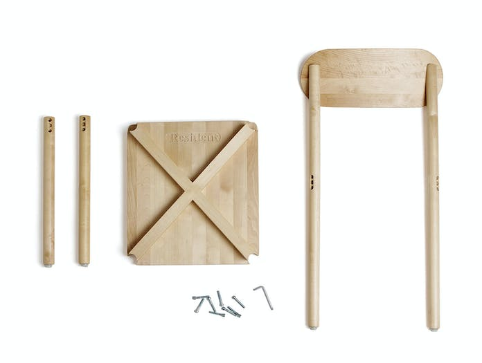 Resident Studio Chair Oak Parts Jason Whiteley