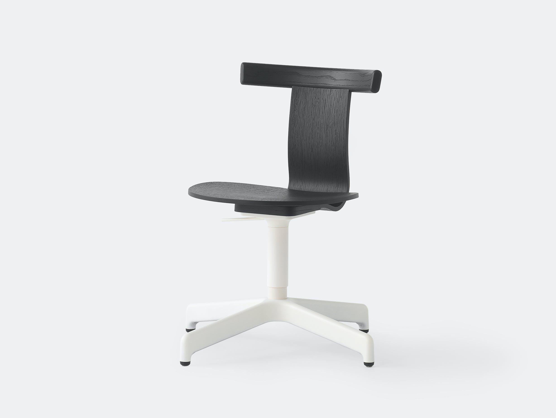 Resident jiro chair black oak white