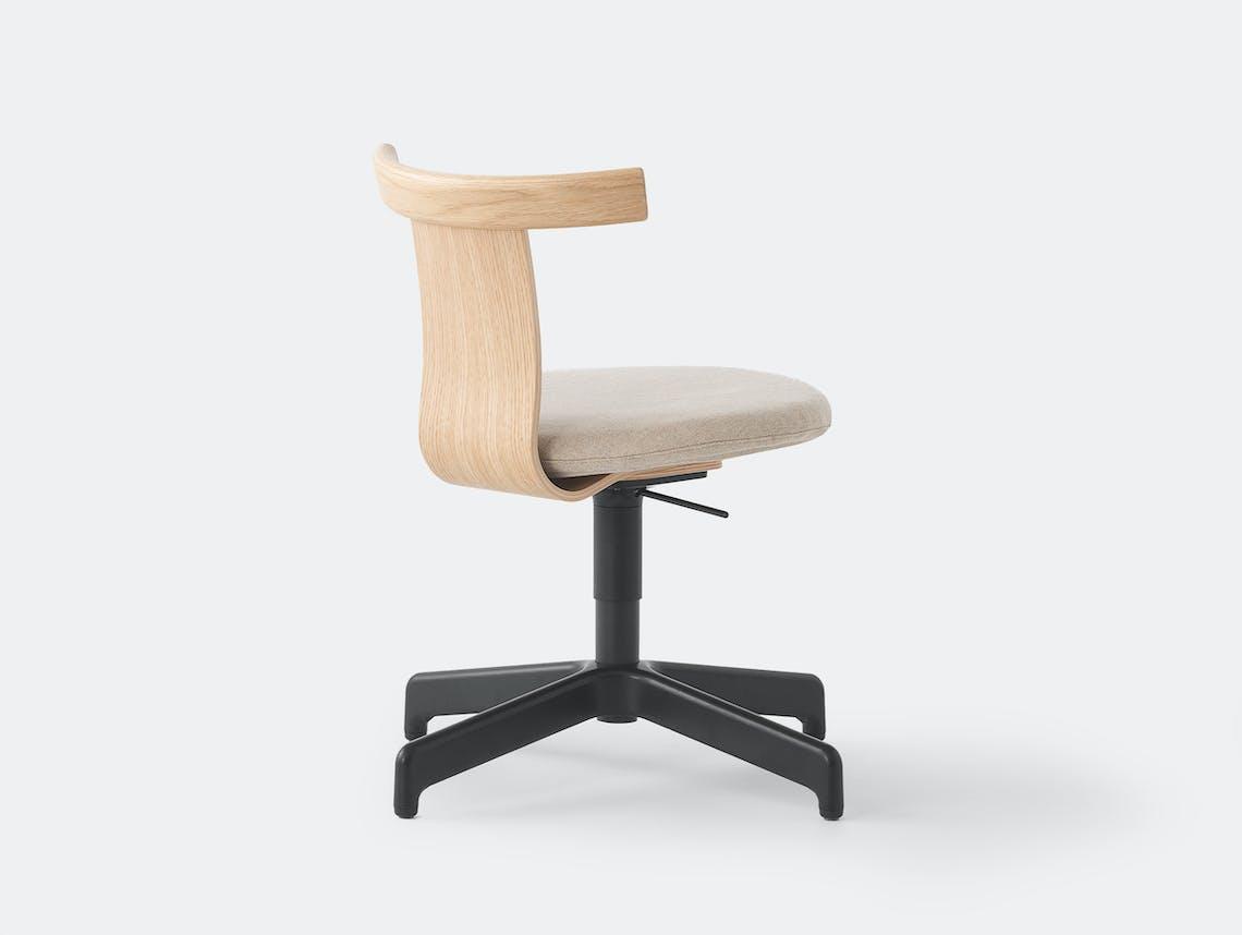 Resident jiro chair lifestyle oak fabric