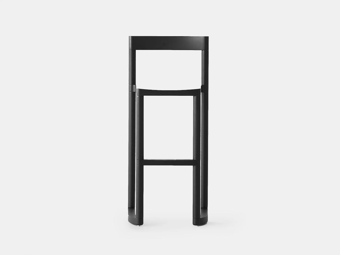 Resident pier bar stool black stained oak
