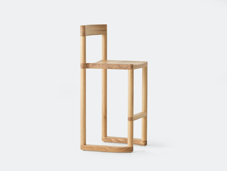 Resident pier bar stool oak 2