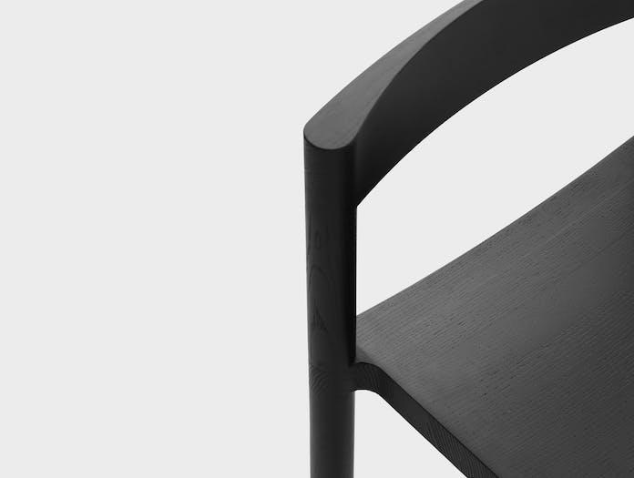 Resident pier bar stool oak black close