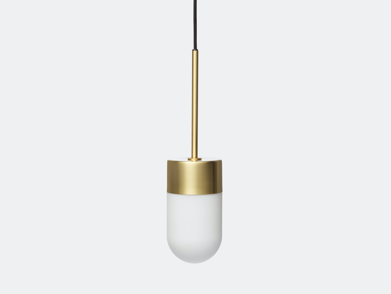 Rubn Vox Pendant Light Opal Glass Brass Niclas Hoflin