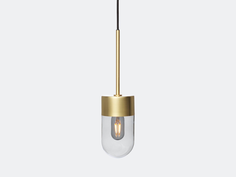Rubn Vox Pendant Light Smoked Glass Brass Niclas Hoflin