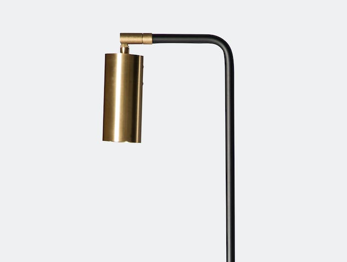 Rubn Lektor Floor Light Black Brass Detail Niclas Hoflin