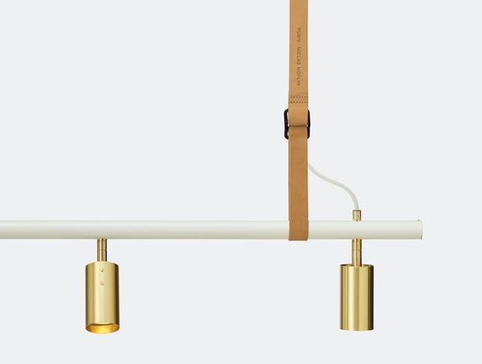 Rubn Long John 3 Pendant Light Nat Whi Brs Detail Niclas Hoflin