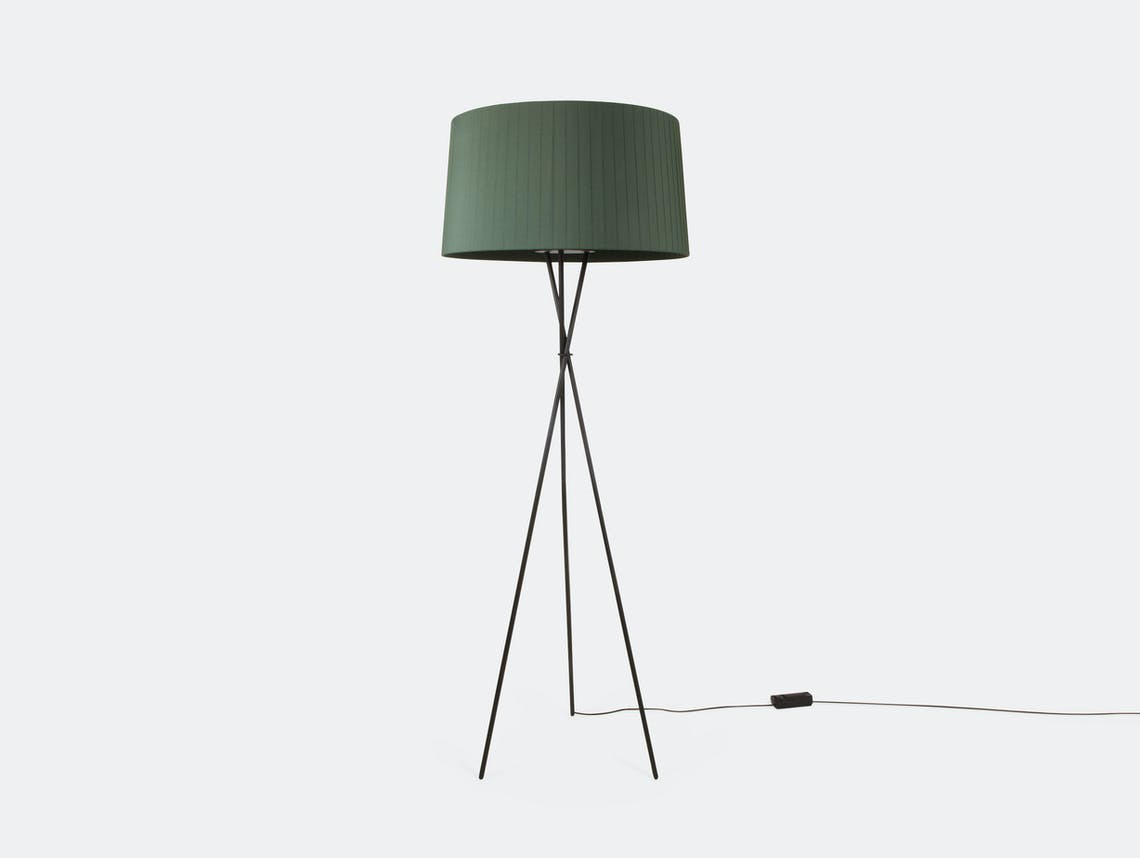 Santa And Cole Tripode G5 Floor Lamp Green