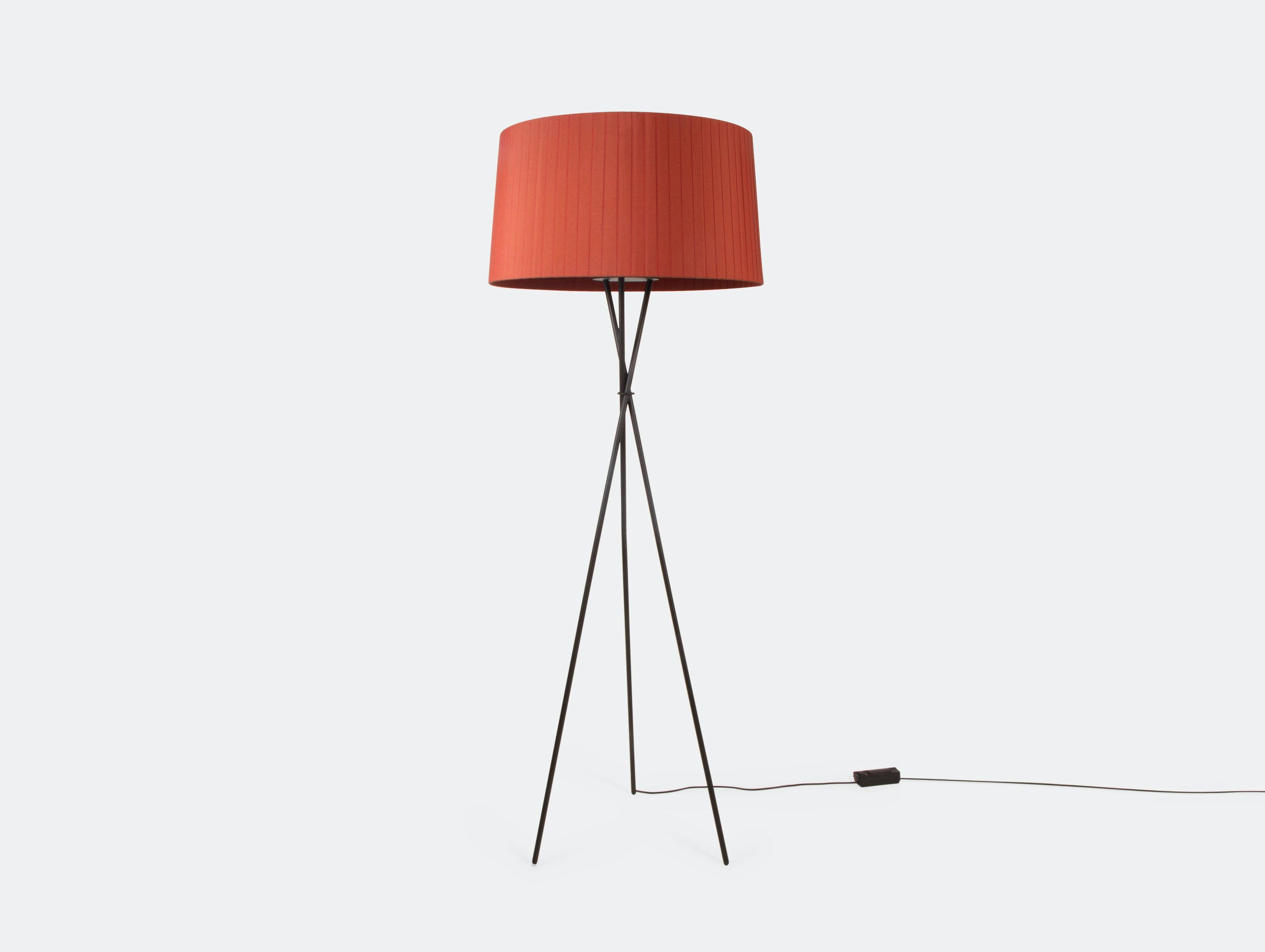 Santa And Cole Tripode G5 Floor Lamp Red Amber