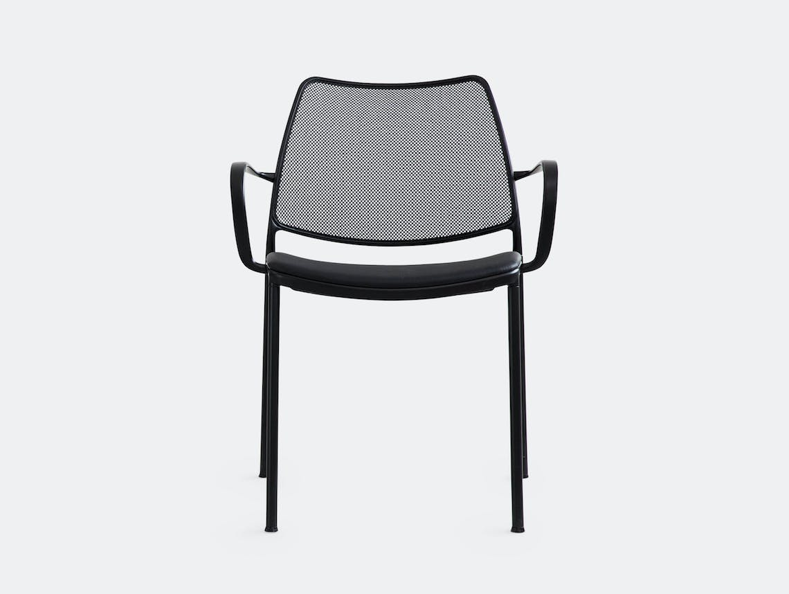 Stua Gas Chair Black Mesh Leather Jesus Gasca