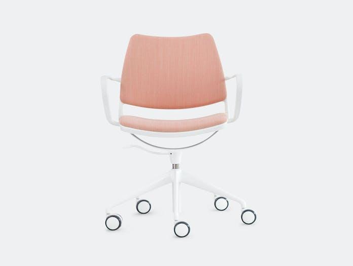 Stua Gas Swivel Chair White Pink Jesus Gasca