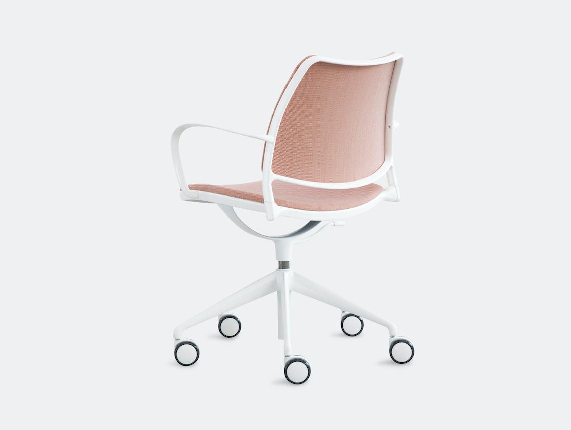 Stua Gas Swivel Chair White Pink Back Jesus Gasca