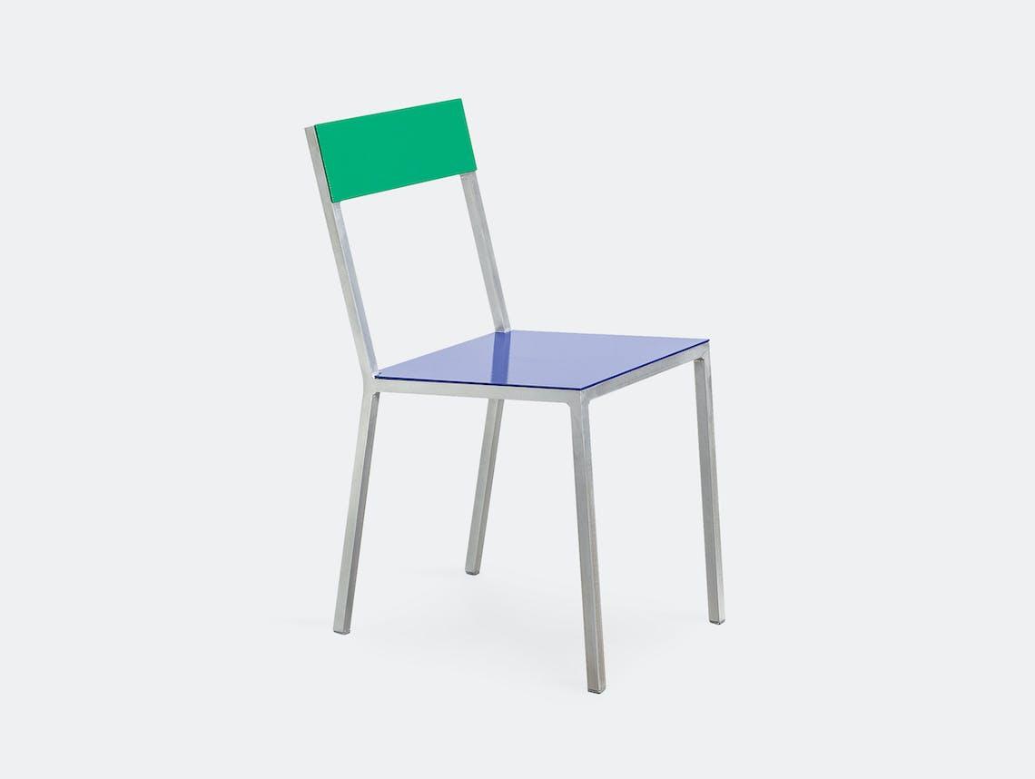 Muller Van Severen Alu Chair Valerie Objects Green Blue