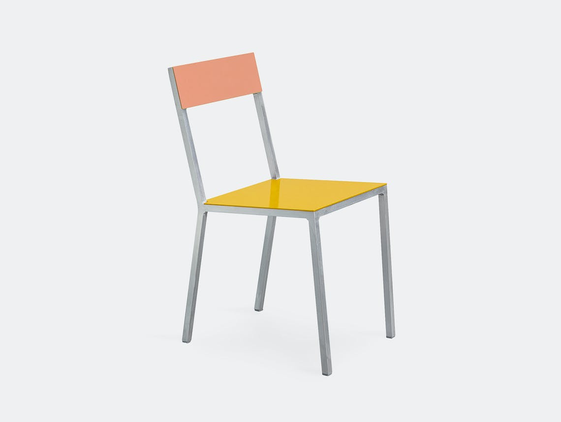 Muller Van Severen Alu Chair Valerie Objects Yellow Pink