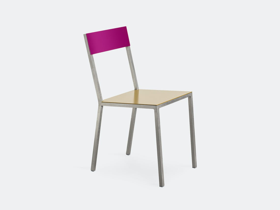 Muller Van Severen Alu Chair Valerie Objects candy purple curry
