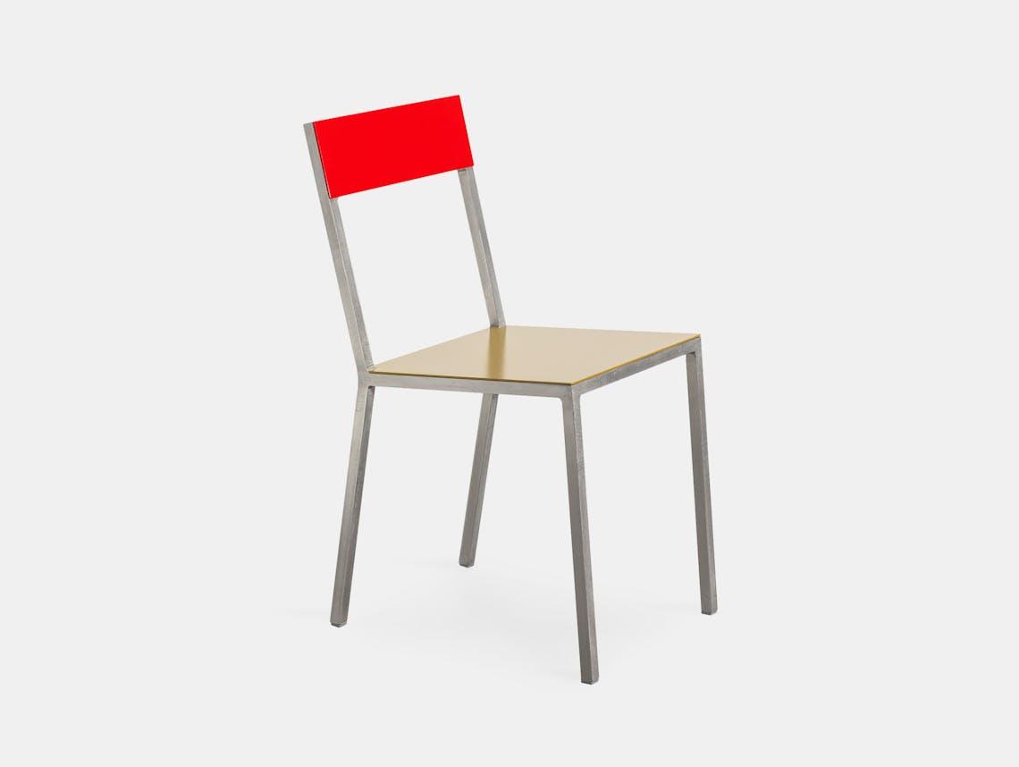 Muller Van Severen Alu Chair Valerie Objects curry red