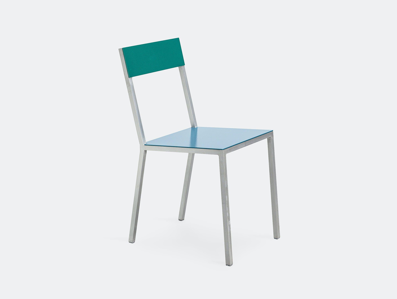 Muller Van Severen Alu Chair Valerie Objects hammerblue hammergreen