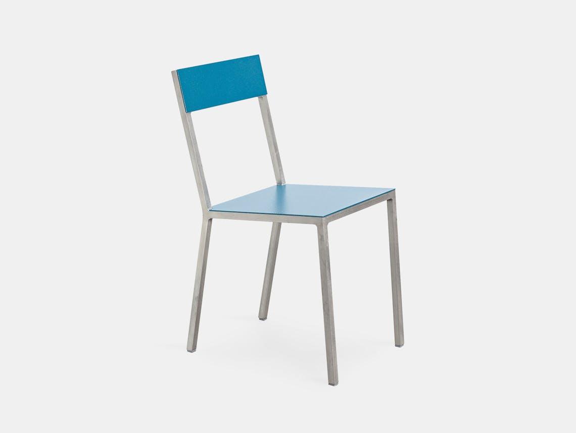 Muller Van Severen Alu Chair Valerie Objects hammerblue