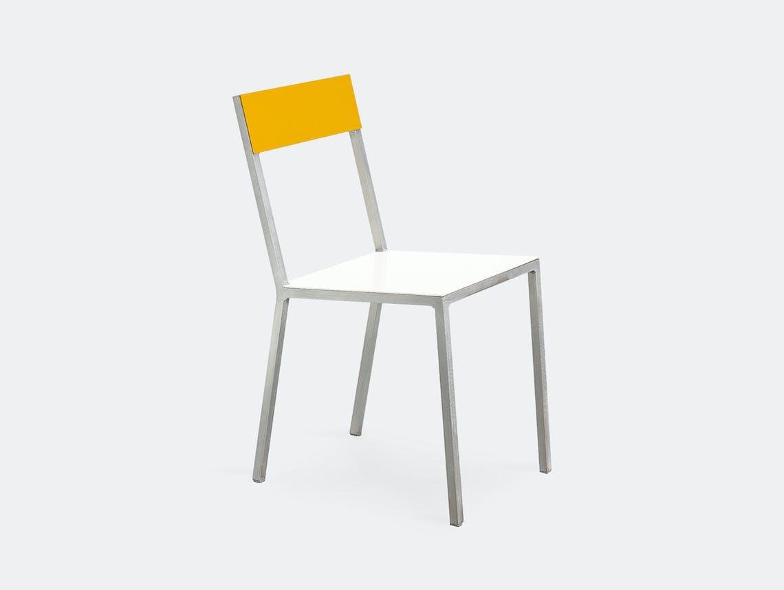 Muller Van Severen Alu Chair Valerie Objects ivory yellow