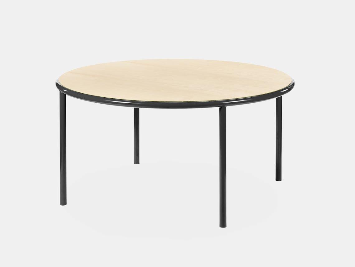 Muller van severen wooden table large round black birch