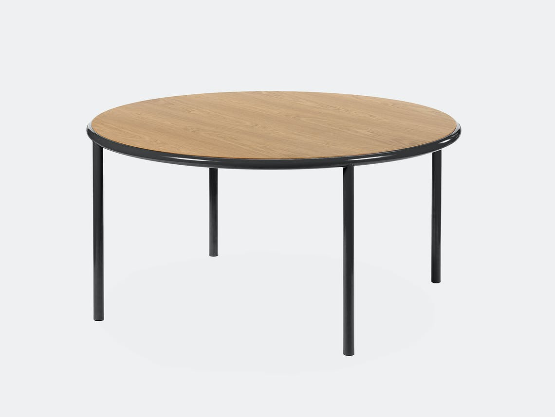 Muller van severen wooden table large round black oak