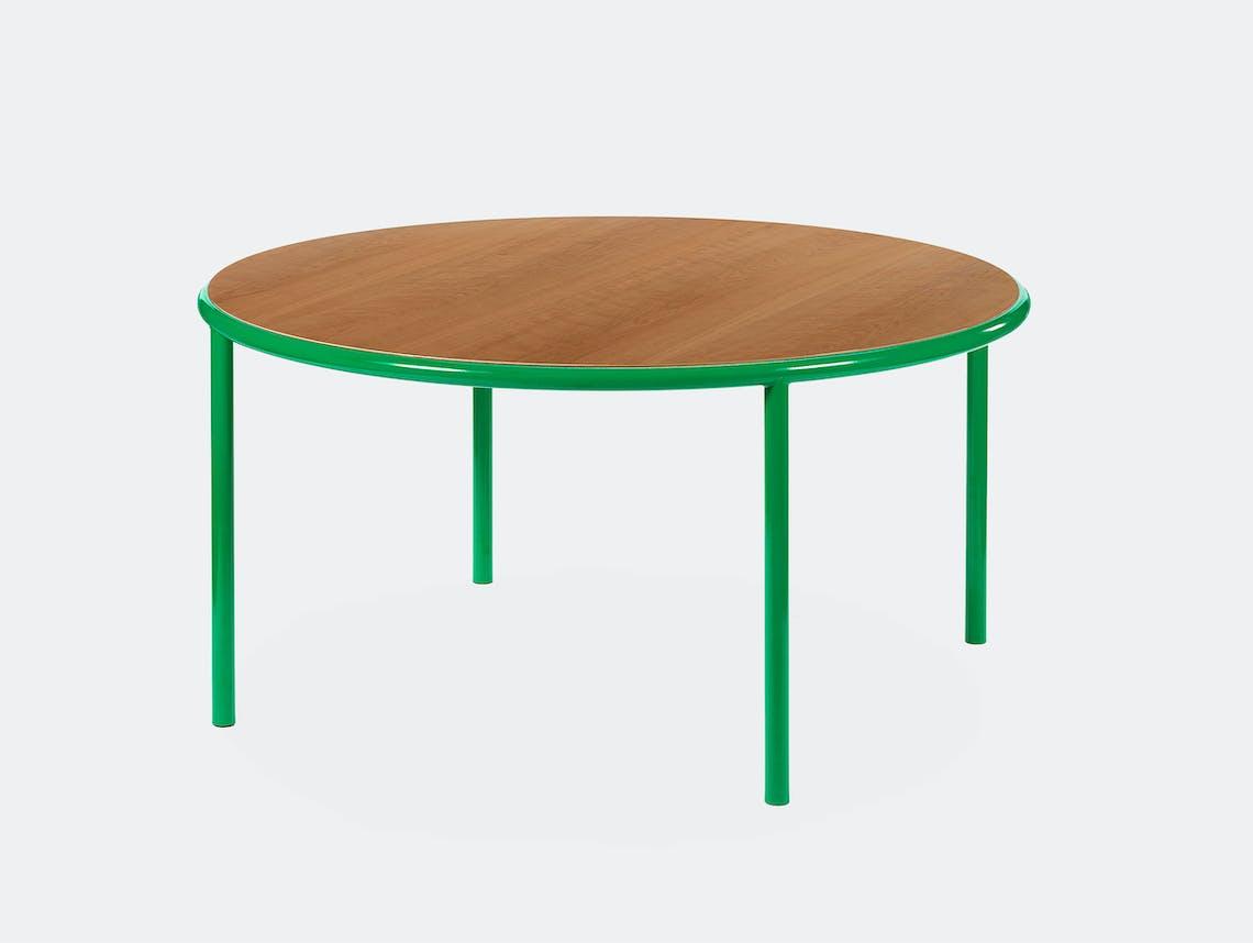 Muller van severen wooden table large round green cherry