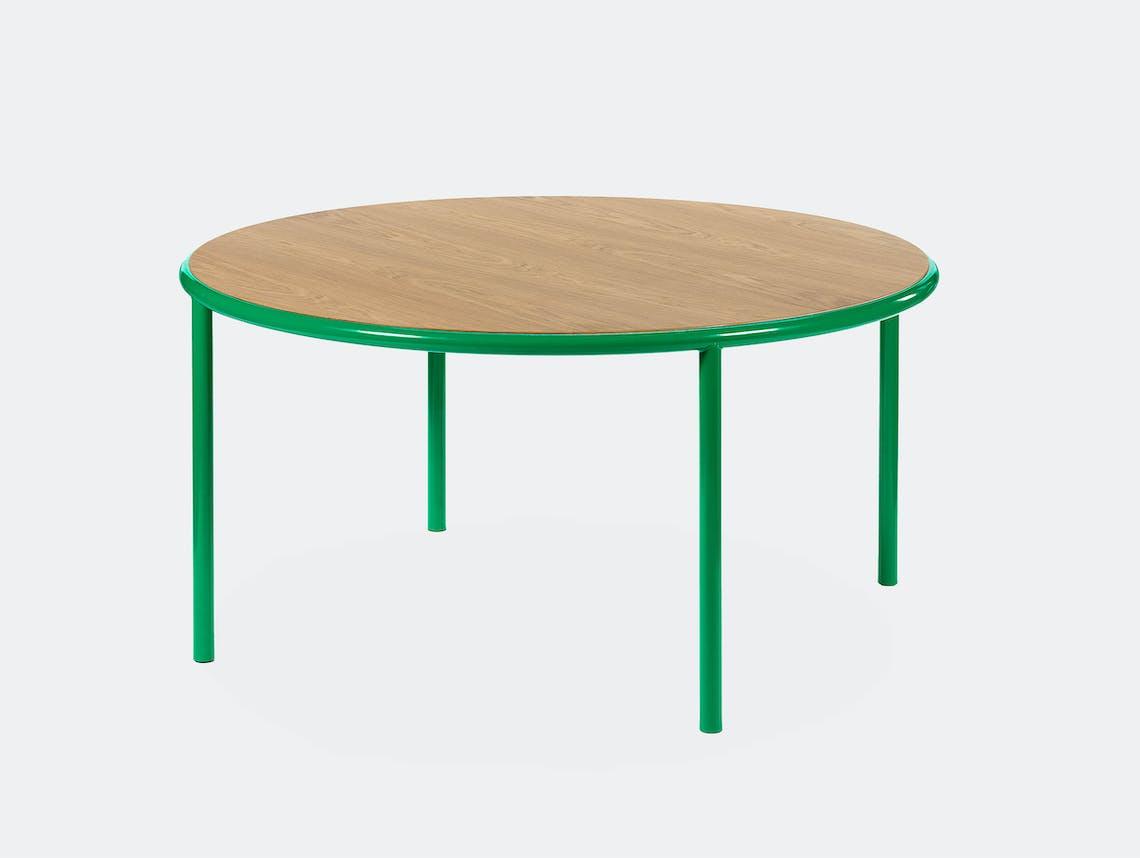 Muller van severen wooden table large round green oak