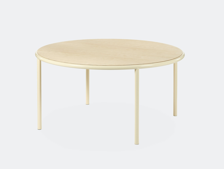 Muller van severen wooden table large round ivory birch