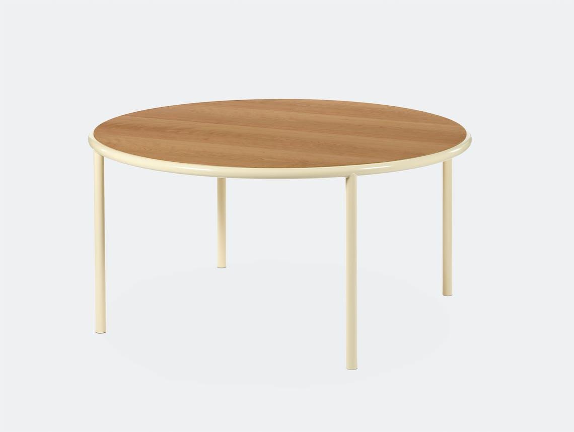 Muller van severen wooden table large round ivory cherry