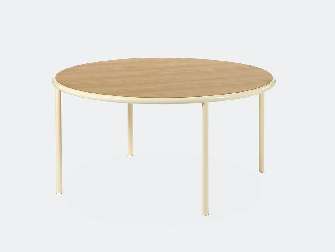 Muller van severen wooden table large round ivory oak