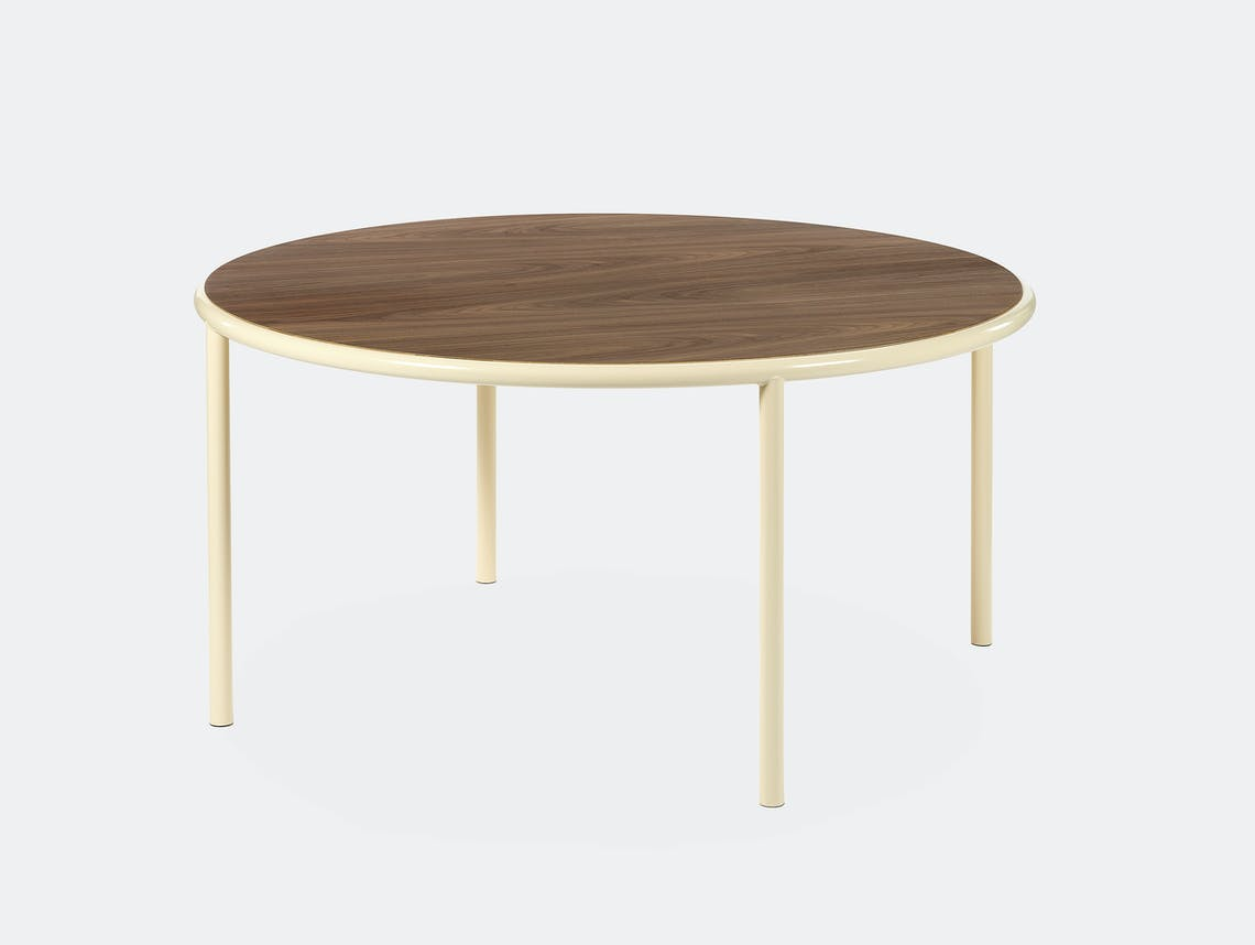 Muller van severen wooden table large round ivory walnut