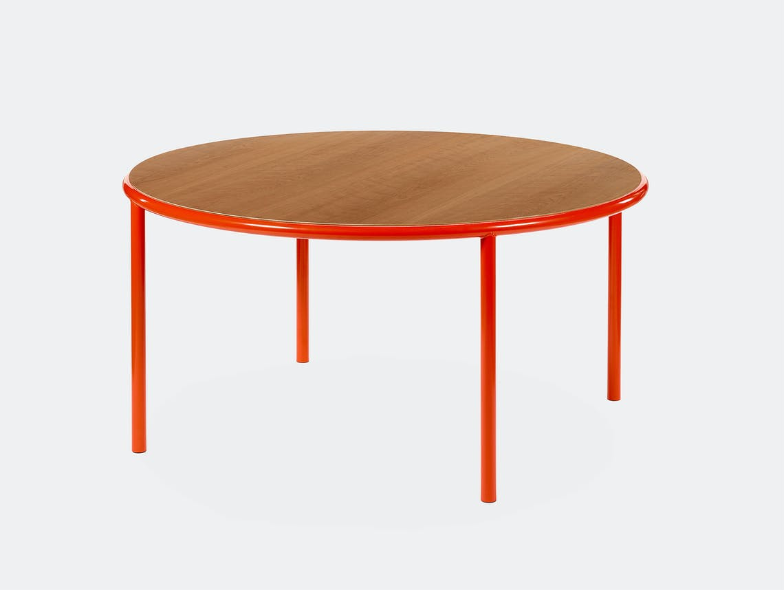 Muller van severen wooden table large round red cherry