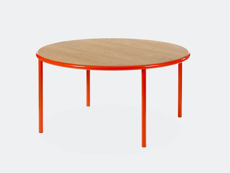 Muller van severen wooden table large round red oak