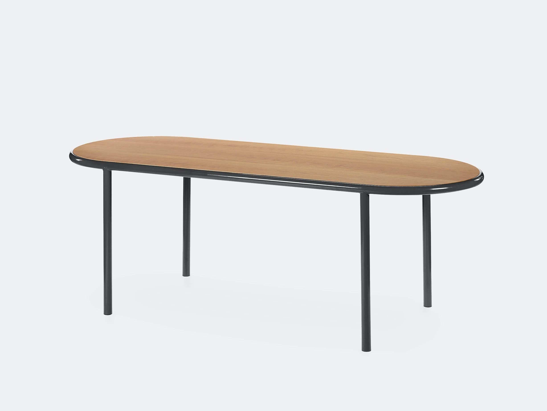 Muller van severen wooden table oval black cherry