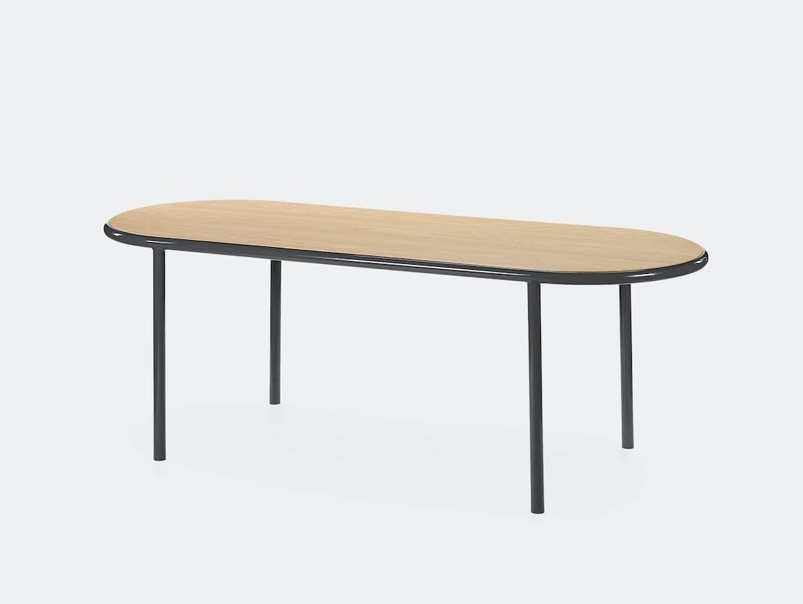 Muller van severen wooden table oval black oak