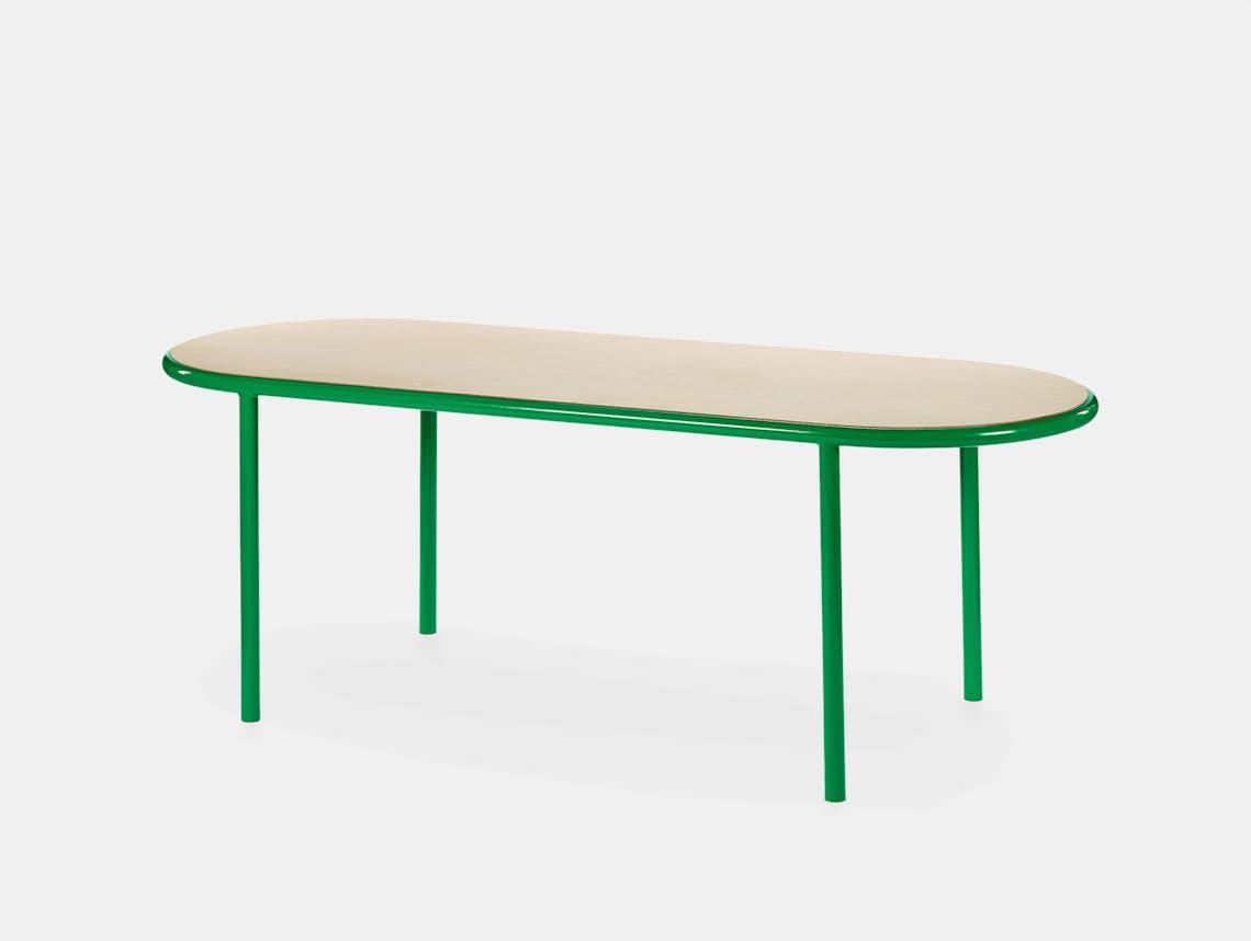 Muller van severen wooden table oval green birch